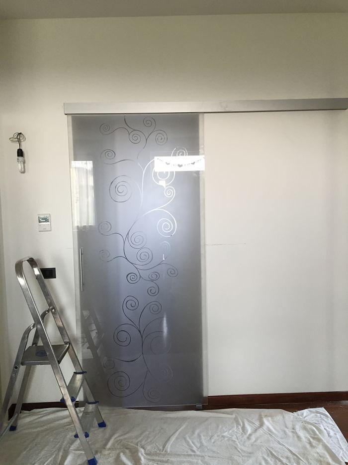 porta vetrata disegni personalizzati