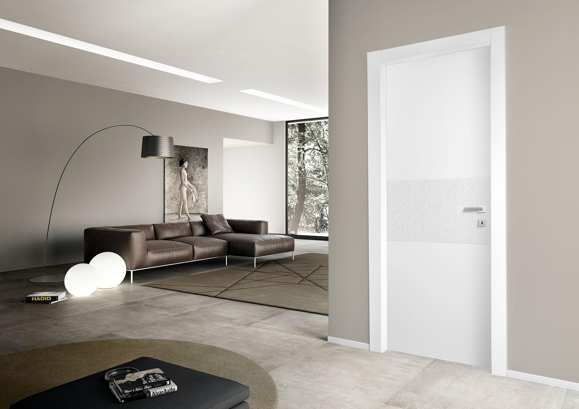 porte legno decorata bianca
