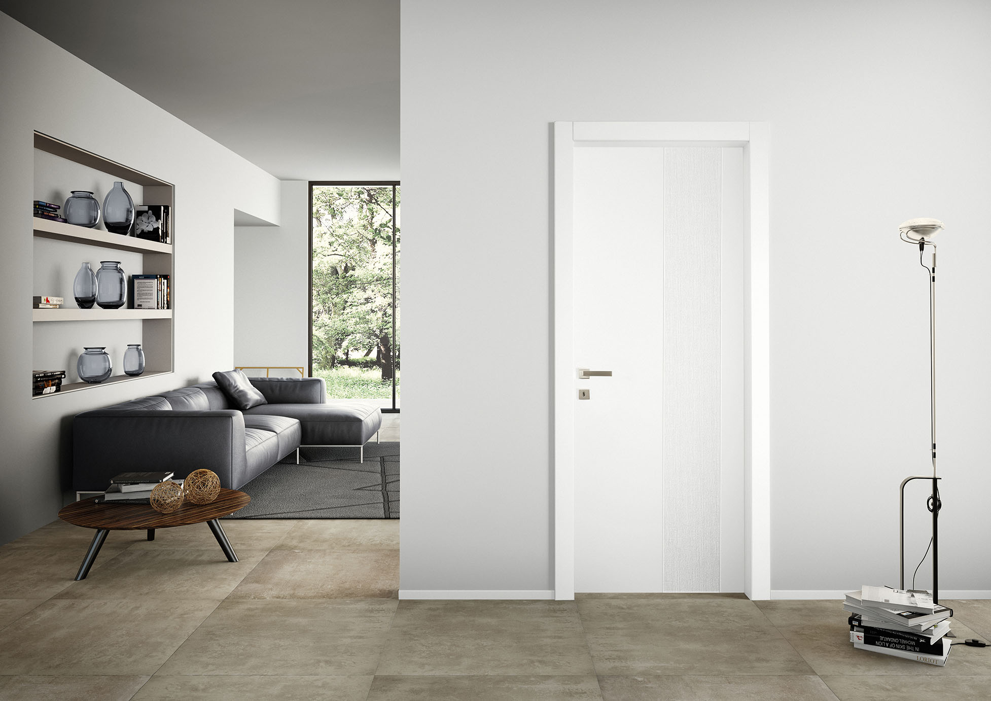 porta bianca design moderno