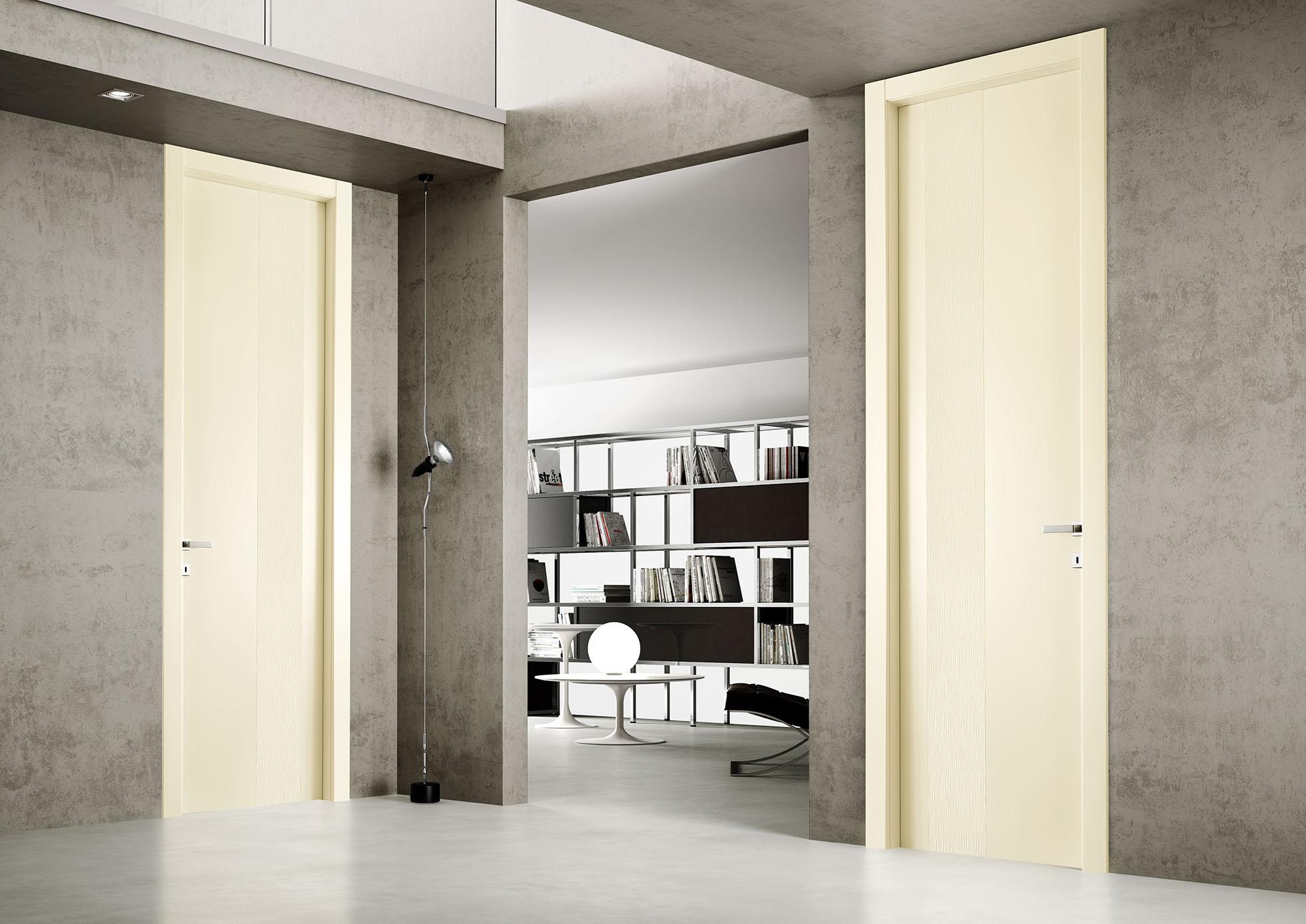 porta in legno laccato opaco
