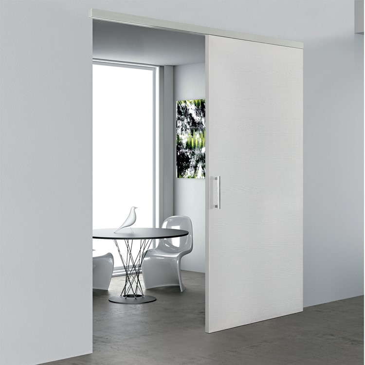 porta bianca plana scorrevole materik