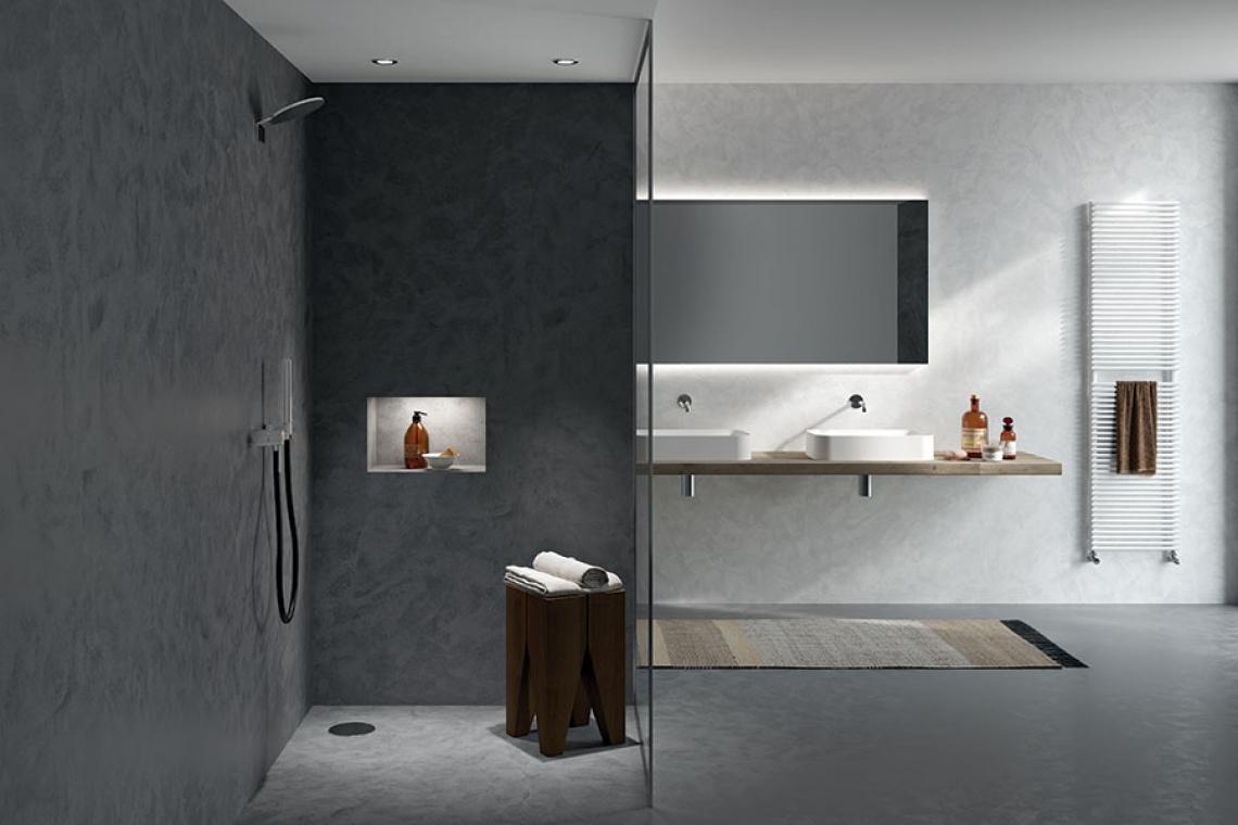 microcemento bagno milano